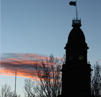 Collingwood Town Hall at sunset